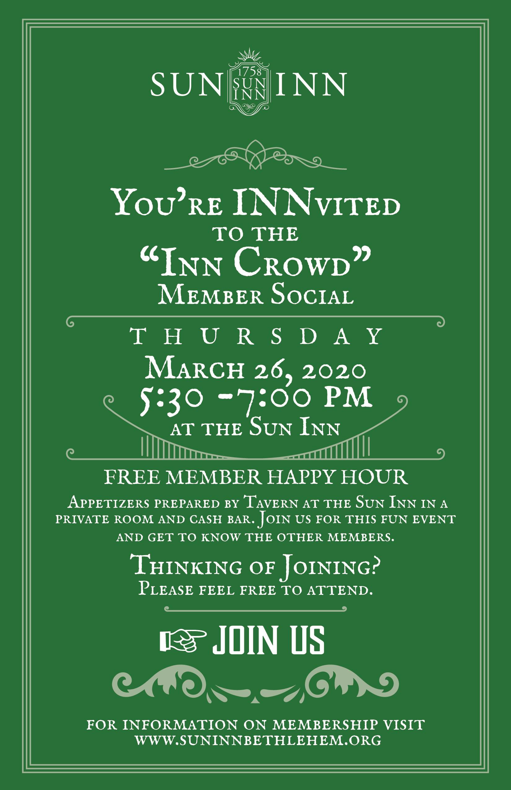 Inn Crowd Invite.March