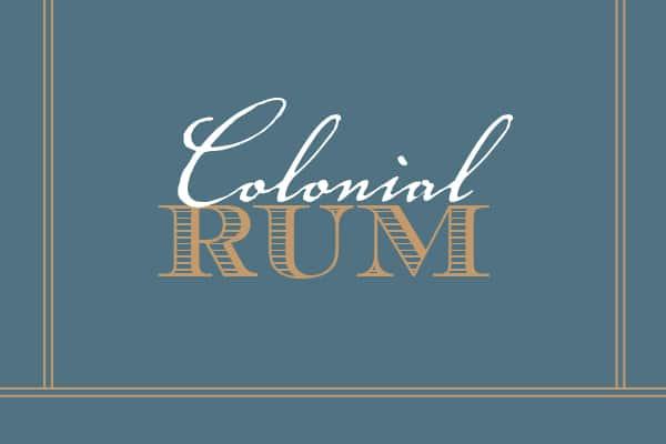 Colonial Rum Label