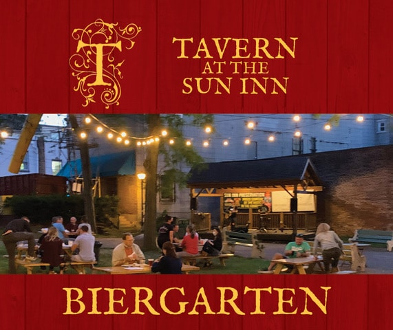 Tavern Biergarten at the Sun Inn Courtyard